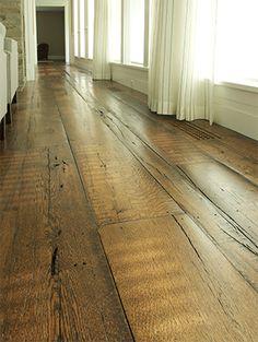 Reclaimed Oak wide plank floor sidebar