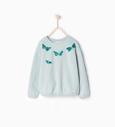 Image 1 of Shiny dragonfly sweatshirt from Zara