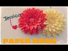 DIY Paper Mums (Chrysanthemum) Tutorial - YouTube