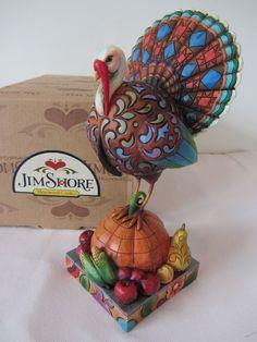 Jim Shore 2007 Fall Thanksgiving 034 Tom A Plenty 034 Turkey on Pumpkin Figure 4007979 | eBay