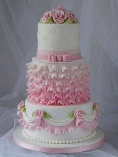 Pink Wedding Cake ~