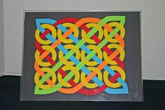 The Steps for How to Make the Easy Paper Crafts: Celtic Design 12 Circles: