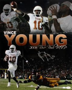 Vince Young Signed 16x20 Photo - JSA #SportsMemorabilia #TexasLonghorns