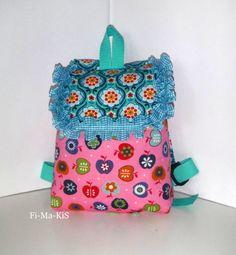 Kindergarten-Rucksack mit Namenskette von Fi-Ma-KiS auf DaWanda.com