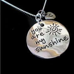 """""""You are my sunshine"""" is a phrase meaning that a person light up your life; someone make your life better and happier. Adorable two piece pendant necklace made with high quality plating sterling silver.Keep it close to  your heart, or give it to someone special to commemorate a valentine, birthday or another special occasion.Perfect gift for your love ones. Review:""""is just lovely and I am very pleased with my purchase""""""""bought this for my daughter and she love, loves it !""""Thi..."""
