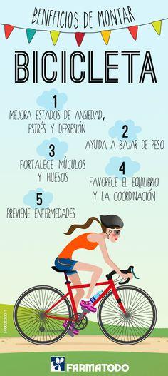 Conoce los beneficios de montar bici #Salud #Bicicleta