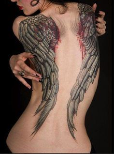 Redbull might give you wings, but we guarantee they aren't as cool as the ones you can get from ink.  #InkedMagazine #wings #tattoos #tattoo #Inked #ink #art