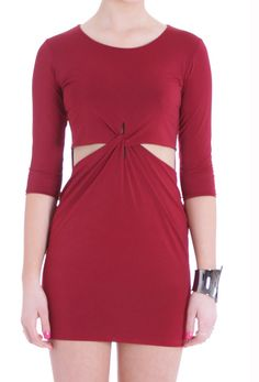 SALE-Reverse Cutout Dress