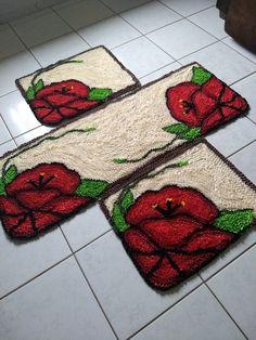 Rug Hooking, Pot Holders, Yellow Carpet, Bathroom Mat, Craftsman Area Rugs, Fabric Rug, Needlepoint, Mesas, Pintura