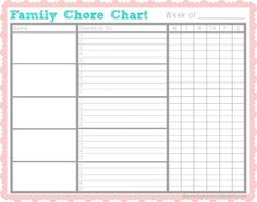 Chores for kids get kids helping with my free chore chart! is part of Kids Crafts Organization Chore Charts - Chores for kids how to inspire and motivate your kids to help out with this free chore chart printable! Teen Chore Chart, Weekly Chore Charts, Free Printable Chore Charts, Chore Chart Template, Family Chore Charts, Weekly Chores, Free Printables, Toddler Chore Charts, Chore Chart Teenagers