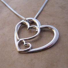 Triple Heart Charm Necklace