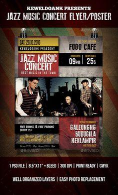 Jazz Concert Flyer  Poster  Jazz Concert And Concert Flyer