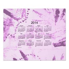Old Magenta Paint 2014 Wall Calendar Design from Calendars by Janz