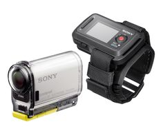 Sony Action Cam - I have an LCD, headband, and mounts to make sure all action and adventure is recorded! Battery life could be better though. Ip Camera, Video Camera, Techno Gadgets, Camera Store, Photo Equipment, Photography Camera, Security Camera, Videos, Sony