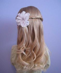 Image result for flower girl hair ideas