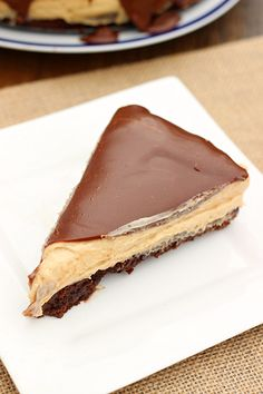 Peanut Butter Brownie Pie - Whats Cooking Love?