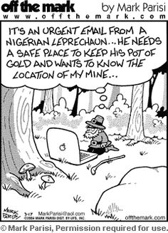 Cartoons by award-winning cartoonist Mark Parisi. Affordable & funny comics that are great for presentations, websites, social media, publications, gifts and more. Newspaper Funnies, Technology Humor, Political Cartoons, Leprechaun, Funny Comics, Caricature, Comic Strips, Laugh Out Loud, Puns