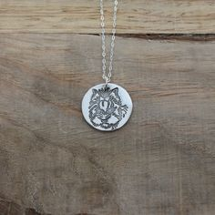 Yorkie - Dog fine silver pendant by ALMrozarka on Etsy