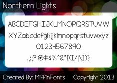 Northern Lights font by Miffin Fonts - FontSpace