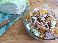 Chicken, Orange and Cabbage Salad (Just sub Olive oil for Coconut Oil)