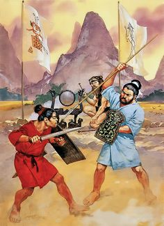 """Ancient chinese - Southern warriors, 600 BC - 300 BC""   • Wu convict  • Shaman  • Ch'u spearman"