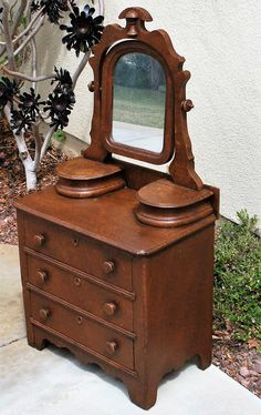 Victorian Child's Sponge Finish Dresser, c. 1870 Antique World USA