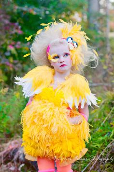 Featured on Access Hollywood, Child's Big Bird Inspired Costume, Girl's Bird Costume