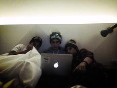 Editing the new video- Beau, Luke, and Jai