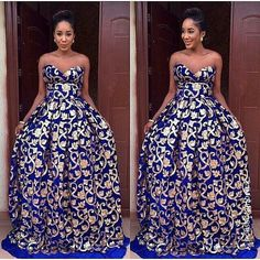 Long royal blue sequins evening dress with rhinestones*sparkly women gowns for prom party*inexpensive graduation prom dress on sale. African Prom Dresses, African Wedding Dress, African Dresses For Women, African Attire, African Wear, African Women, African Lace, African Style, African Inspired Fashion
