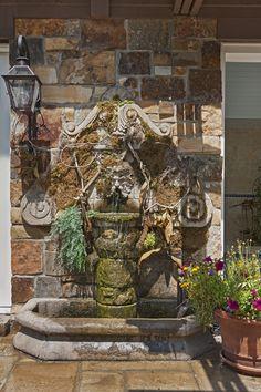 European Tuscan Villa Lake House - VanBrouck & Associates Bloomfield Hills, Old World Style, Villa, Wood, Crafts, House, Manualidades, Woodwind Instrument, Haus