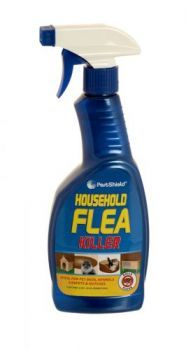 £0.99 - Pestshield Household Flea Spray 500ml Trigger Spray Ideal for Pet Beds, Kennels, Carpets and Hutches Insecticide to use against fleas, ants, cockroaches, beetles, ticks, earwigs, bedbugs, mites, booklice and moths.