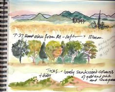 tips on travel journal painting from woman working in African countries.