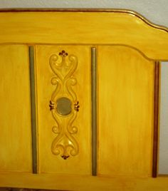 Another view of the headboard