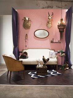 Brooks was an early stand-out in episode one with this pink + taxidermy design. Love it or hate it? #hgtvstar http://www.hgtv.com/hgtv-star/hgtv-star-photo-highlights-from-episode-1/pictures/page-22.html?soc=pinterestdb