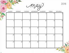 May 2018 Floral Calendar