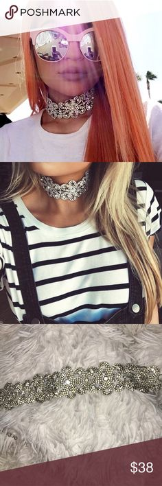 Child of Wild Silver Rhinestone Choker Beautiful Silver colored Elizabethan Rhinestone Choker! As seen on Kylie Jenner. Last image is myself wearing the choker for reference. Child of Wild Jewelry Necklaces