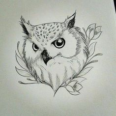 sketches of an owl Easy Drawings, Tattoo Drawings, Tattoos, Animal Drawings, Pencil Drawings, Owl Drawings, Buho Tattoo, Tattoo Owl, Tattoo Animal