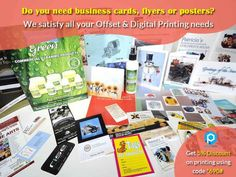 "Business cards Flyers Posters from Print Hub #Businesscards #flyers #Posters #Business Show just in an image about all what you are and what you do. Business cards, flyers, posters and all your business printing needs at one stop. ""Print hub"" Tell *690# unique code with us and get 5% #discount offer for all your printing works Contact: Sathiya Ramanan – 9600919690"