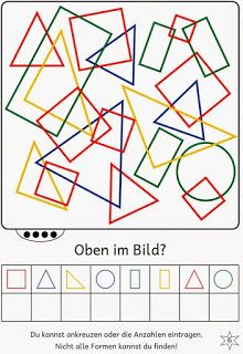 Lernstübchen: Find shapes in the picture Math Activities For Kids, Math For Kids, Preschool Worksheets, Teaching Kids, Kids Learning, Visual Perceptual Activities, Math Literacy, School Games, Thinking Skills