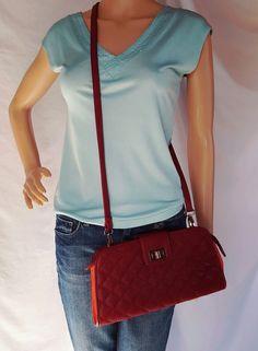 Street Level Bag Crossbody Shoulder -Burgundy and orange color. Women's Handbags, Coach Purses, Orange Color, Cloths, Burgundy, Amp, Shoulder Bag, Street, Shopping