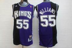 Sacramento Kings 55# Jason Williams Black purple split jersey