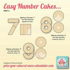 Number cakes 7,8,9
