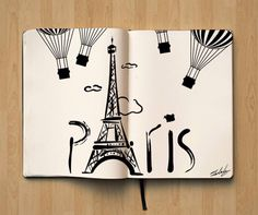 Pray for Paris - Un hommage en illustrations . Bullet Journal Books, Bullet Journal Themes, Bullet Journal Inspiration, Book Journal, Journal Ideas, Tour Eiffel, Paris Cards, August Themes, Illustrations