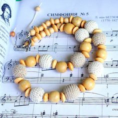 Crochet Necklace Crochet Jewelry Creammilk Necklace by yolkaigolka, $24.00