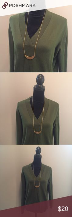 Talbots Hunter Green Top Perfect top & color for Fall!!  Very flattering and comfortable. Talbots Tops Blouses