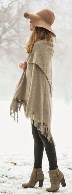 #winter #fashion / poncho