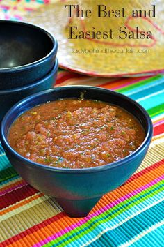 Once you have The Best and Easiest Salsa you'll never have to buy store bought bottled salsa again! This easy to make salsa offers just the right amount of heat.