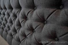 DIY upholstered headboard.  I really want to try this! Been wanting a headboard in our room for awhile!