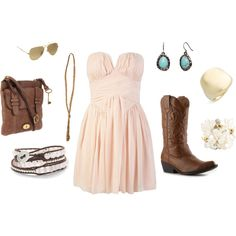 love the whimsical/cutesy dress with boots!
