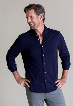 Denim Button Up, Button Up Shirts, Ivy Style, Wedding Shirts, Mens Clothing Styles, Quick Dry, Stretch Fabric, Shirt Style, Promotion